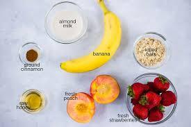 strawberry u0026 peach smoothie bowl recipe how to make a smoothie