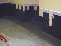 Interior Basement Wall Waterproofing Membrane Stops Leaks Inside Basement Waterproofing Systems French Drains
