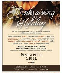 thanksgiving specials kapalua resort