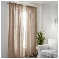Linen Curtains Ikea Aina Curtains 1 Pair Ikea