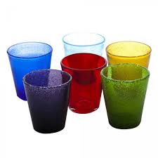 bicchieri vetro set 6 bicchieri da tavola in vetro soffiato a bocca kaleidos surf