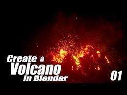 tutorial blender terrain create a volcano eruption in blender 01 terrain particles