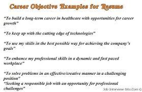 Building A Good Resume Objective For Job Resume Berathen Com