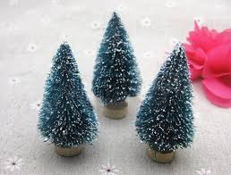 mini trees large blue sisal trees with real pine bases