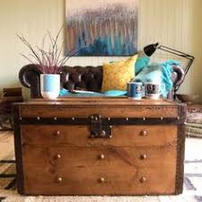 Rustic Chest Coffee Table Vintage Steamer Trunk Storage Chest Victorian Travel Trunk Coffee