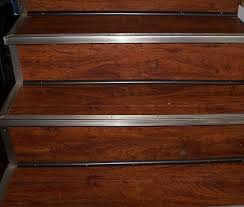 Resilient Plank Flooring Resilient Floor Done On Stairs Not Sure What I Think Of