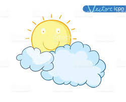 sun with clouds doodle stock vector more images