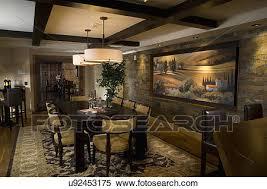 pittura sala da pranzo archivio immagini interno di contemporaneo sala da pranzo