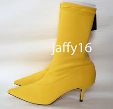 yellow boots s zara fabric high heel ankle boots yellow 35 41 ref 5118 201 ebay
