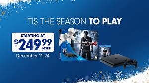 ps3 black friday target uncharted uncharted 4 ps4 bundle 249 99 december 11 through december 31