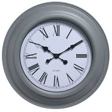 wilko station clock giant grey at wilko com