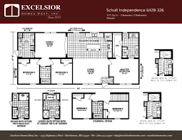 schult modular home floor plans schult independence 6428 326 excelsior homes west inc