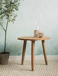 Wood Side Table Wooden Side Table At Grey