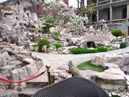 Rock Garden Restaurant Rock Garden In Courtyard Picture Of Qing Wang Fu Restaurant