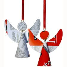 recycled metal ornament from india fair trade handmade