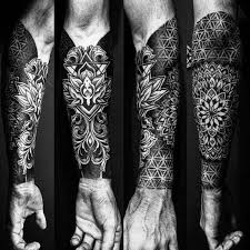 Forearm Tattoos Sleeve - 50 geometric forearm designs for manly ideas