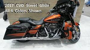 2017 cvo street glide harley davidson colors and description