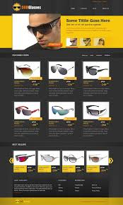 free ecommerce css template for sunglasses online shop website
