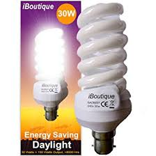 iboutique 30w bayonet b22 daylight energy saving light bulb