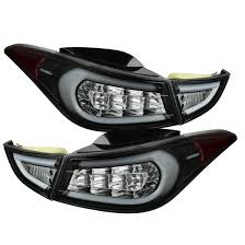 2010 hyundai elantra tail light assembly 2011 2013 hyundai elantra fiber optic style led tail lights black