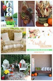 Outdoor Fall Decorations by 60 Outdoor Fall Decor Ideas Happy Go Lucky