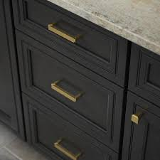 home depot brass kitchen cabinet handles modern notched 3 3 4 in 96mm center to center brushed brass drawer pull