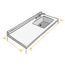 largeur plan de travail cuisine plan de travail sur mesure conforama avec largeur plan de travail