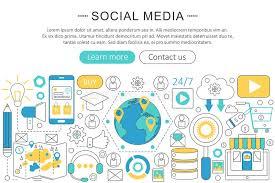 design poster buy vector modern line flat design social media concept social media