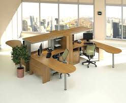 image of corner computer desk with hutch blackcorner home office