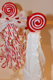 Lollipop Topiary Tree - diy candy cane topiary trees pizzazzerie