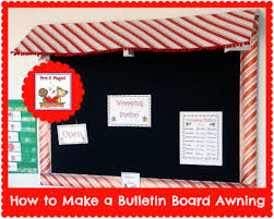 Awning Diy How To Make A Bulletin Board Awning Diy