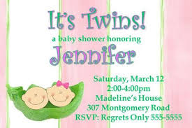 how to create unique baby shower invitations for twins baby