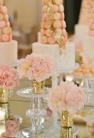 pink and gold cake table decor sophisticated wedding reception ideas modwedding weddings