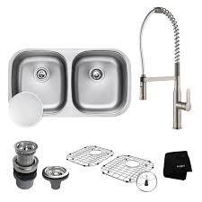 scratch resistant stainless steel sink kraus kbu22e kpf 1650 stainless steel chrome kitchen sink