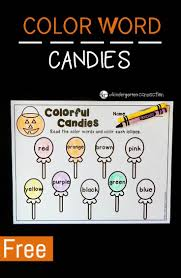 colorful candies color words activity free coloring