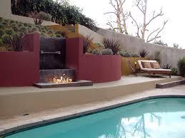 painted garden walls landscape modern with modern fire feature