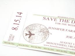 boarding pass save the date boarding pass save the date with world map and plane