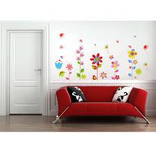beautiful flowers floral butterfly diy wall stickers wallpaper