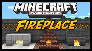 minecraft pocket edition tutorial how to build a fireplace youtube
