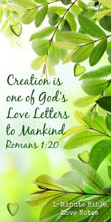 1 minute bible love notes nature is one of god u0027s love letters a