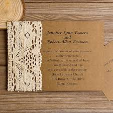 rustic country wedding invitations vintage lace kraft paper wedding invites ewls004 as low as 1 79