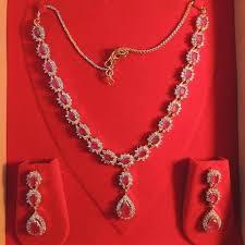 ruby diamonds necklace images Ruby diamond necklaces diamond necklaces ishwar nagar surat jpg