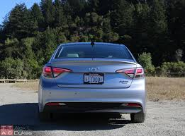 2016 hyundai sonata hybrid exterior rear the truth about cars