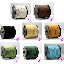 leather ribbon 100yards roll suede leather string leather ribbon cords hide rope