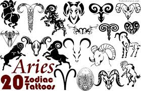 black 20 zodiac aries tattoo flash by michelle cobban