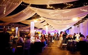 tenture plafond mariage draping and string lights home house decor