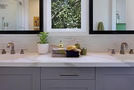 Bathroom Backsplash Tile Half Tiled Bathroom Backsplash Contemporary Bathroom