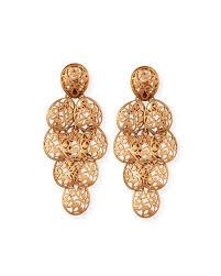 Rose Gold Chandelier Earrings Pomellato 18k Rose Gold Arabesque Chandelier Earrings