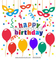 birthday party poster cute confetti balloon stock vector 395320918