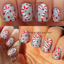christmas nail art candy cane candy cane nail art using nails art